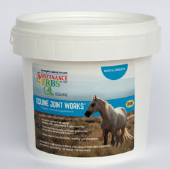 32 oz tub of sustenance herbs for pets equine joint works, an organic herbal supplement for horses