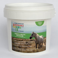 sustenance herbs for pets equine probiotic and digestive enzyme blend, all natural, organic digestive aid for horses