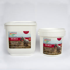 2 tubs of sustenance herbs for pets open aire eq, an organic herbal formula that strengthens respiratory immunity in horseic respiratory support for horses