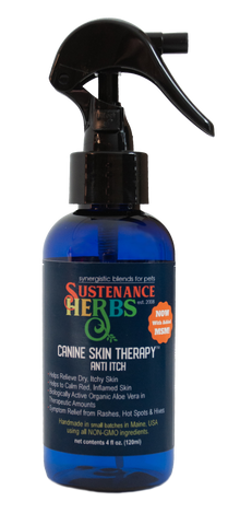 sustenance herbs for pets canine skin therapy, natural anti itch formula for dogs