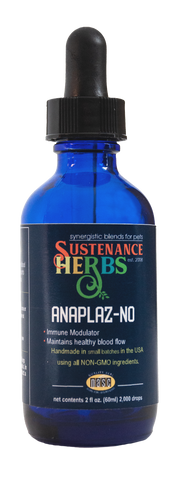 2 oz bottle sustenance herbs for pets anaplaz-no formula,  an organic immune modular for horses and dogs