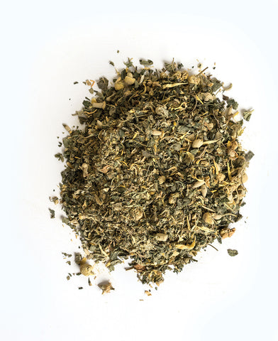 pile of herbs from sustenance herbs for pets ultra-soothe-eq organic herbal blend