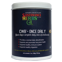 sustenance herbs for pets cwb once daily for dogs, an all  natural organic supplement for pets