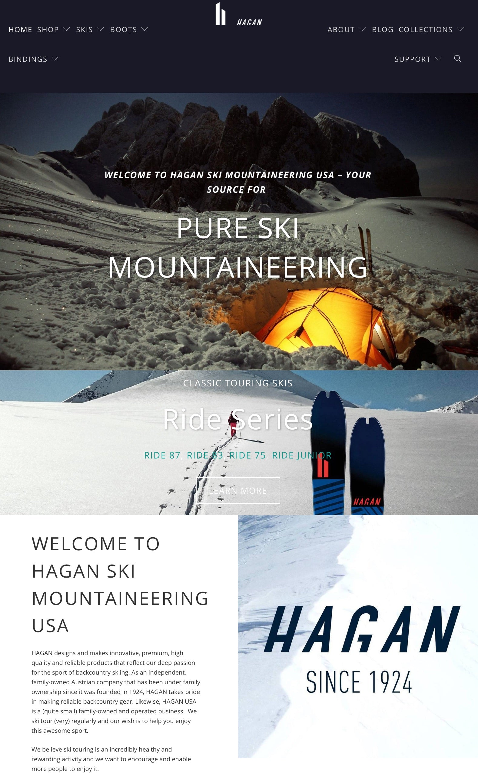 Brand New Hagan Ski Mountaineering USA Website!