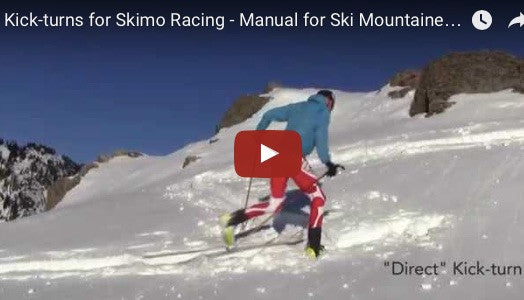 Kick-turns for Skimo Racing - Manual for Ski Mountaineering Racing