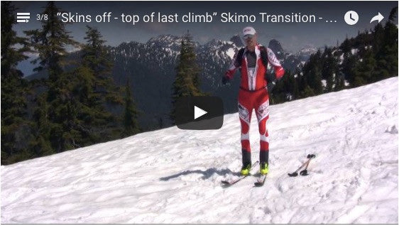 """Skins off - top of last climb"" Skimo Transition - Manual for Ski Mountaineering Racing"