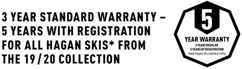 Hagan 3 year ski warranty