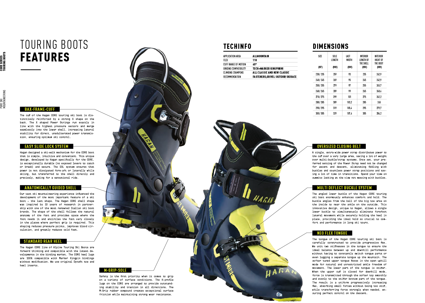 HAGAN CORE Alpine Ski Touring Boot - 2018