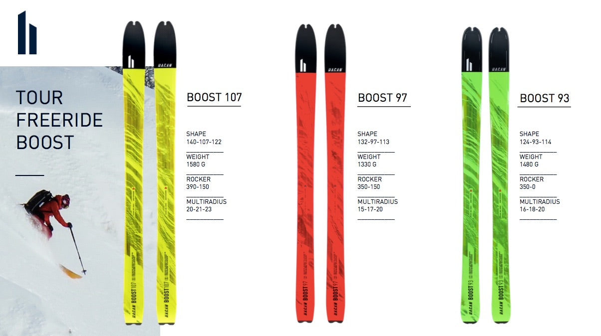 HAGAN Boost Series skis 2108 Freetour Backcountry skiing