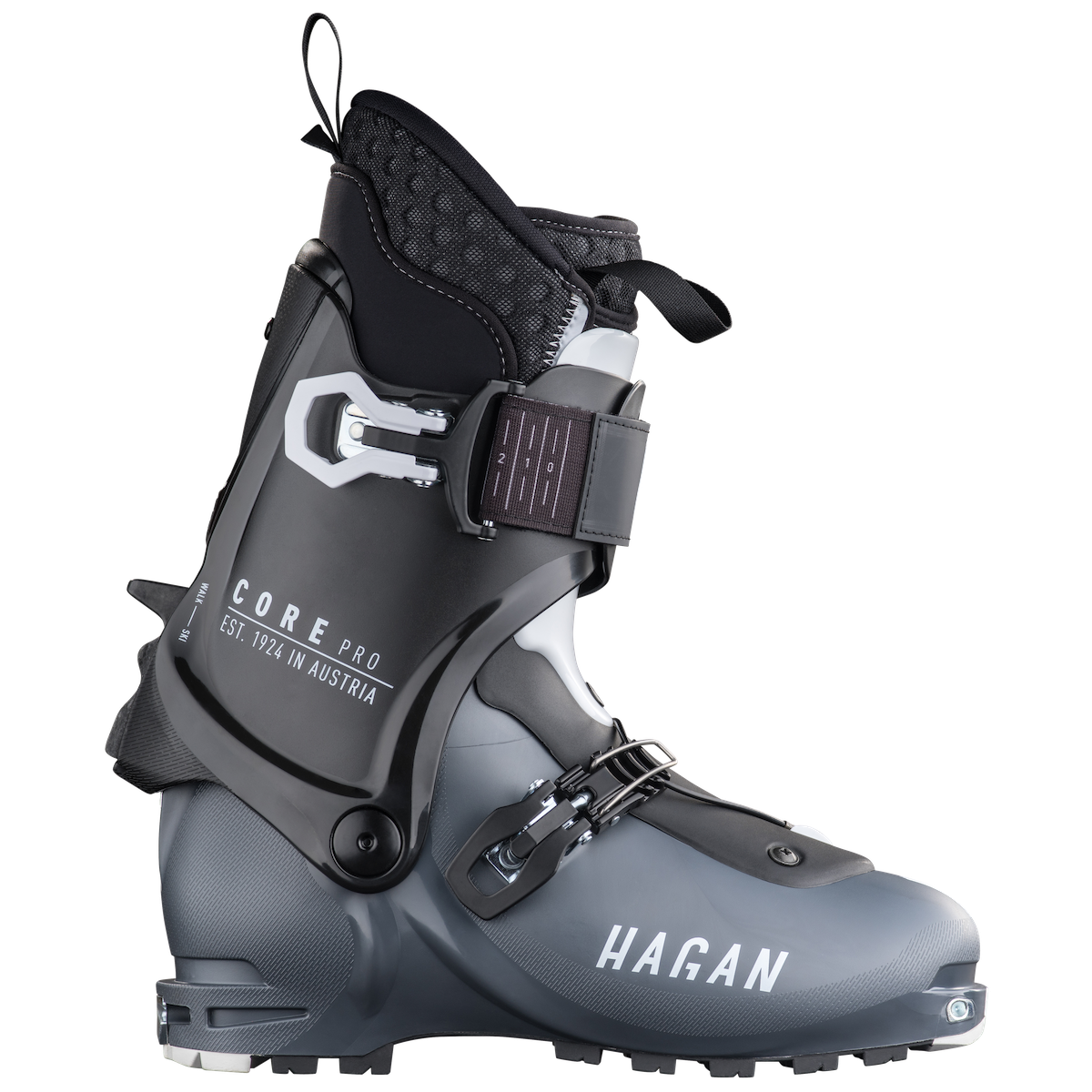 Hagan Core Pro alpine touring backcountry skiing boot for ski mountaineering