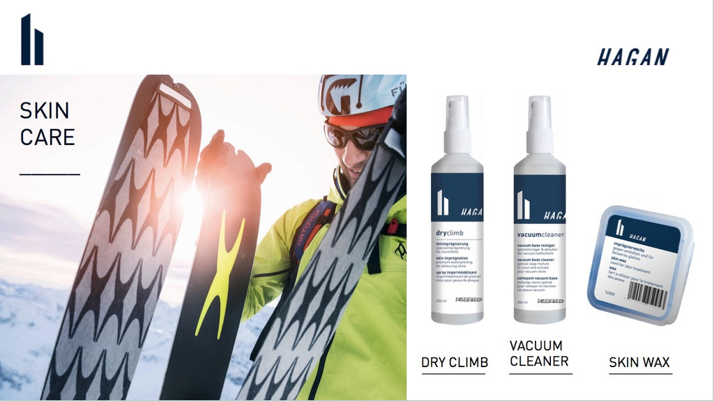 HAGAN climbing skin care products
