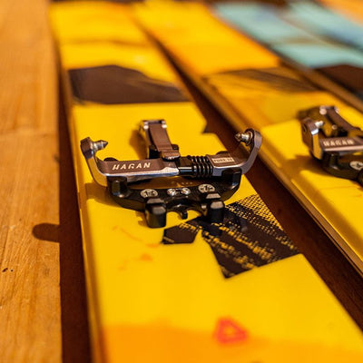 Pure 10 binding on Hagan Ski Mountaineering Boost 99 Freeride alpine ski touring ski - award winner Backcountry Magazine Editor's Choice