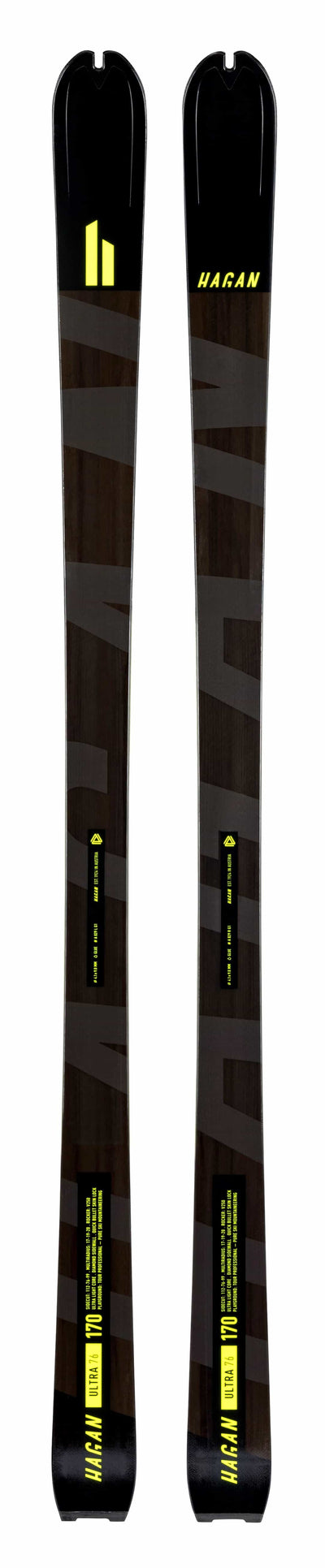 Hagan Ultra 65 carbon fiber alpine touring Backcountry ski for ski mountaineering big view