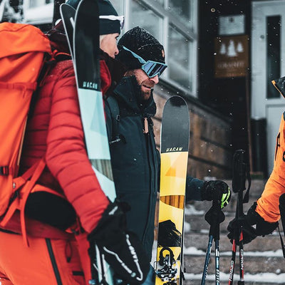 Man with Hagan Ski Mountaineering Boost 99 Freeride alpine ski touring ski - award winner Backcountry Magazine Editor's Choice