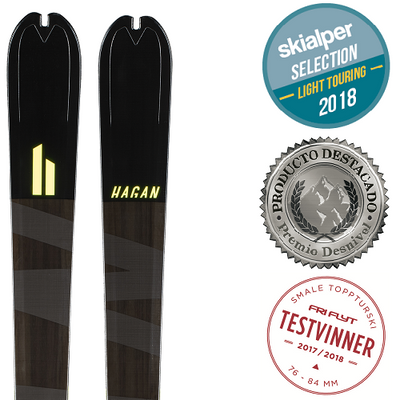 Hagan Ultra 65 carbon fiber alpine touring Backcountry ski for ski mountaineering awards view