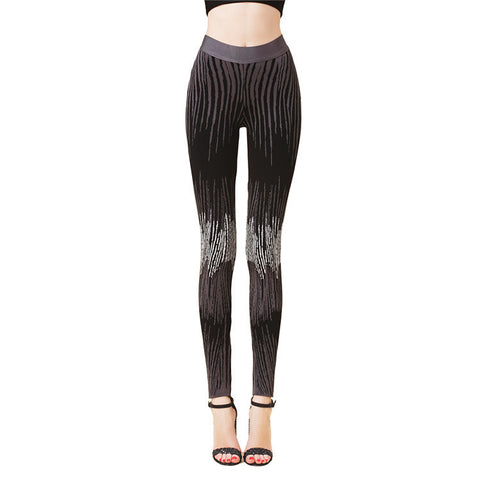 NASSIE Fitted Zebra Print Legging Pants