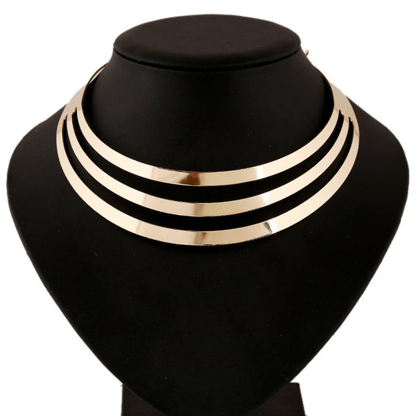 Multilayer Statement Choker Necklace