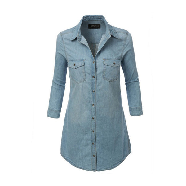 BELKY Denim Shirt Dress