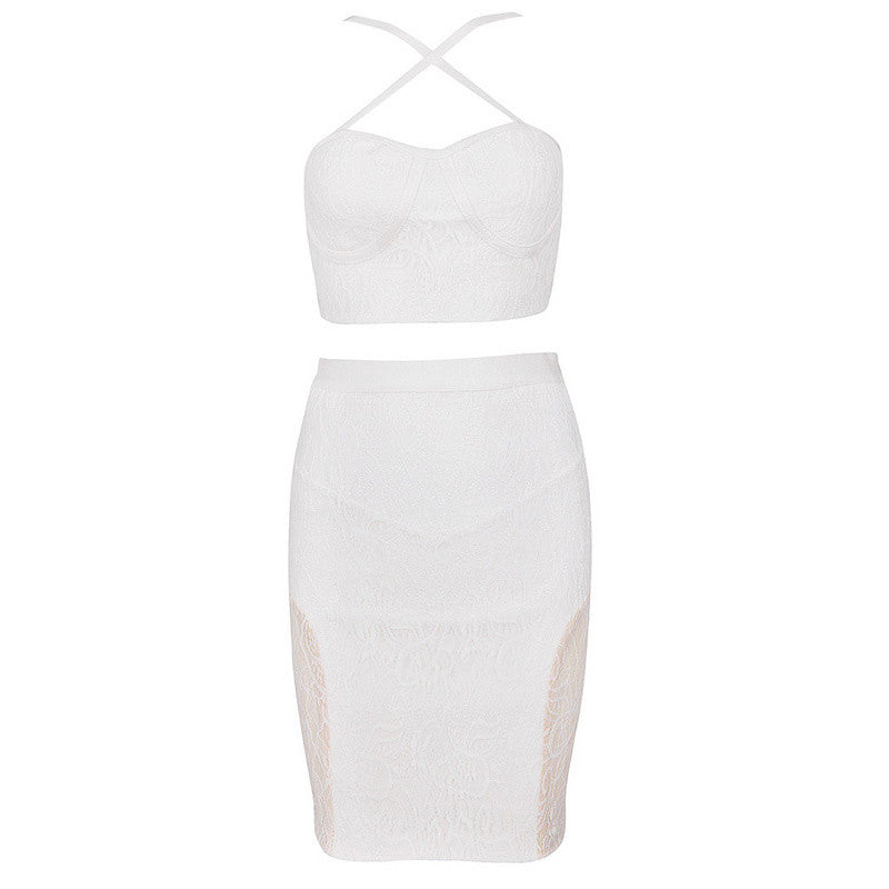 SAMMI Crop Top & Bandage Skirt 2-Piece Set