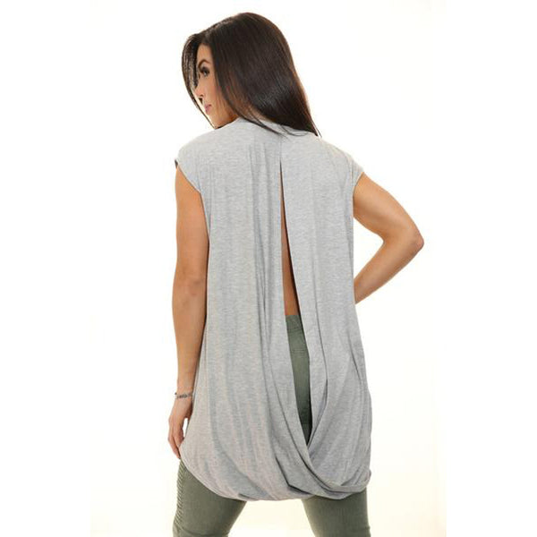 EMILY Open Back Flowy Shirt