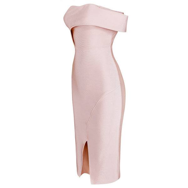 DAMARIS Strapless Cocktail Bandage Dress