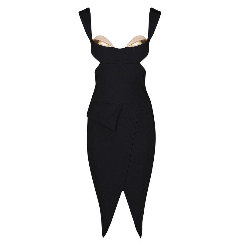 CORA Open Back Bandage Cocktail Dress