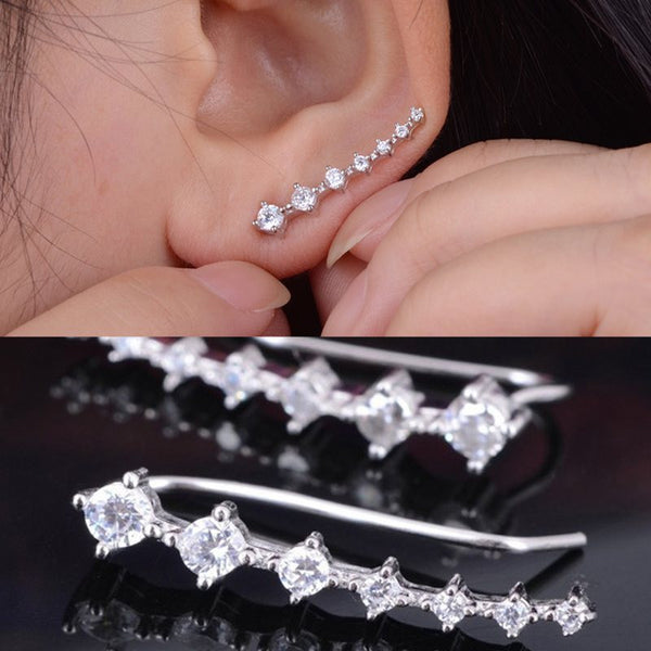High Fashion Crystal Ear Cuff Wrap Earrings
