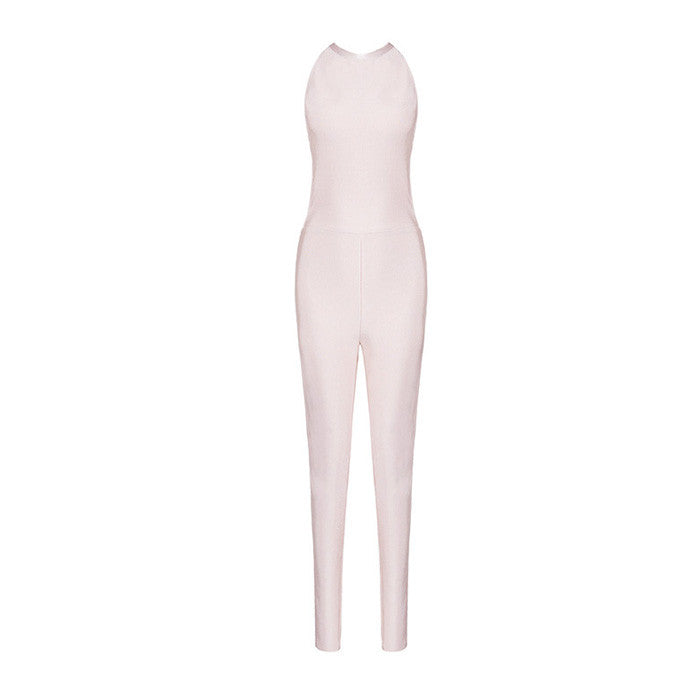 LEEA Bandage Open Back Jumpsuit