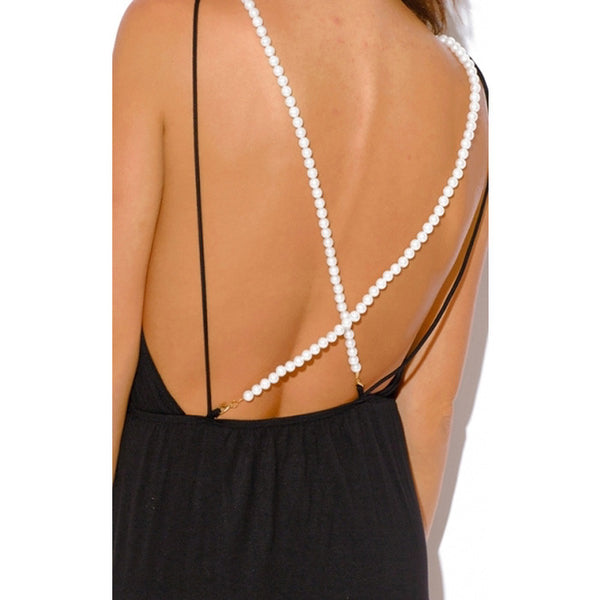 PEARL Backless High Slit Maxi Dress