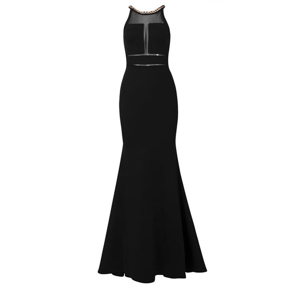 NANCY Chain Mesh Cocktail Gown