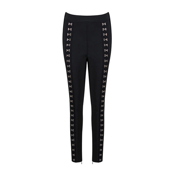 GINA Metal Embellished Bandage Pants