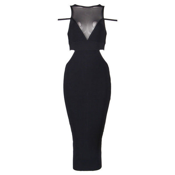 GABS Mesh Cut Out Cocktail Dress