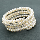 Multi Layer Crystal Pearl Bracelet