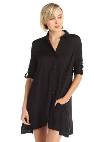 COCO Collared Button Up Shirt Dress