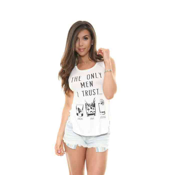 BETHANY 'The Only Men I Trust' Tank