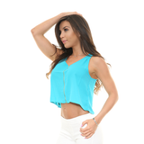KENDAL Zip Up V Crop Top