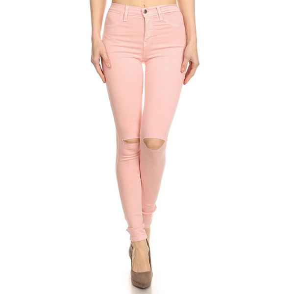 LINA Pink Cut Out Jeans