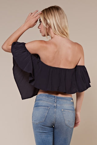CLARA Fishtail Off The Shoulder Top