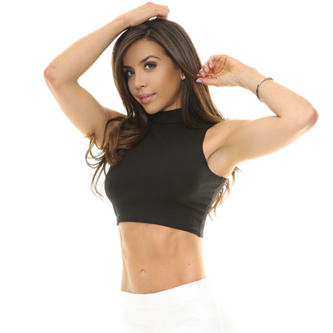 MILANA Turtle Neck Crop Top