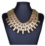 Cleopatra Style Statement Mesh Necklace