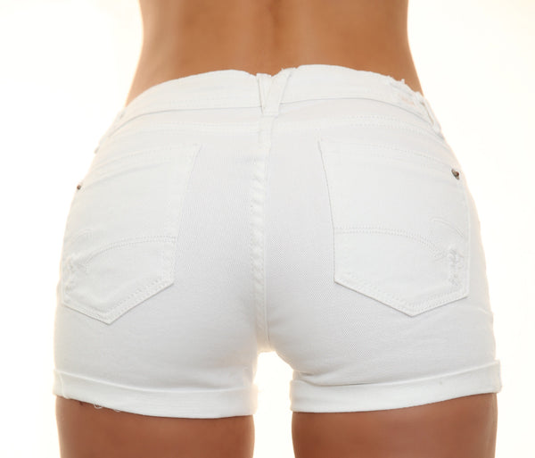AGDA White Mini Shorts