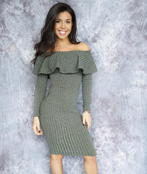 DOLLY Off The Shoulder Ruffle Dress