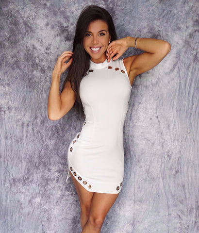 HERMINIA Cut Out Bandage Mini Dress