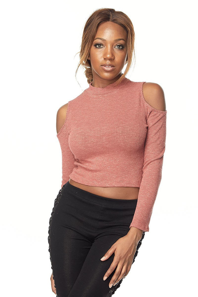 LINDI Off The Shoulder Long Sleeve Sweater