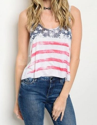 ERICA Stars And Stripes Crop Tank