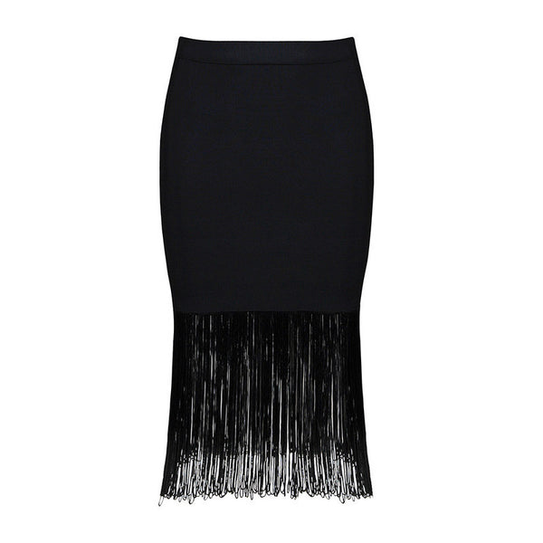 SAMI Bandage Fringe Pencil Skirt
