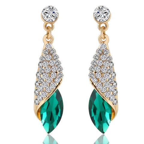 Water Drop Crystal Drop Pendant Earrings