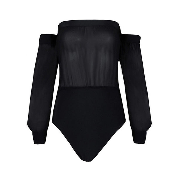 MARINA Long Sleeve Bandage Bodysuit