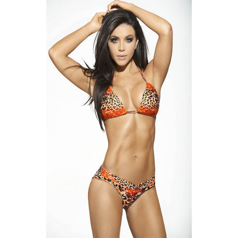 RUTH Cheetah Print Triangle 2-Piece Bikini