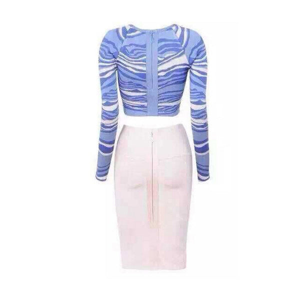 SHELBY Blue and White 2 Piece Bandage Set